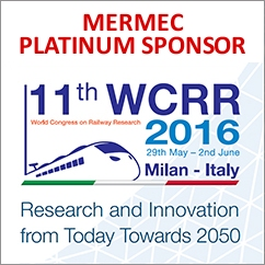 MERMEC Platinum sponsor at WCRR 2016